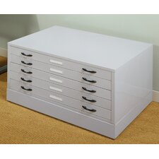 "<strong>Studio Designs</strong> 15.5"" x 40.75"" Flat File in Light Grey"