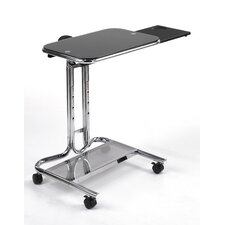 Laptop Cart with Mouse Pad in Chrome