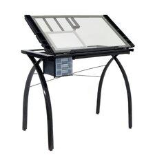 "Futura Station Glass 43""W x 24""D Drafting Table"