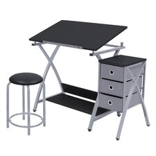 Center Comet Table with Stool