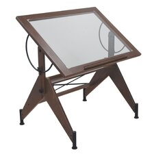 <strong>Studio Designs</strong> Aries Glass Drafting Table