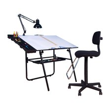 4 Piece Ultima Drafting Table Set