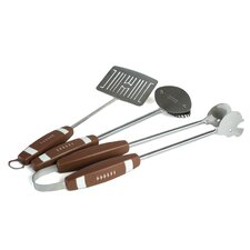 <strong>Charcoal Companion</strong> Football 3 Piece BBQ Tool Set
