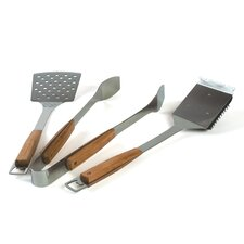 <strong>Charcoal Companion</strong> Pacific Bamboo 3 Piece BBQ Tool