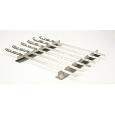 Steven Raichlen Stainless Steel Kabob Rack with Six Skewers Set