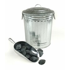 <strong>Charcoal Companion</strong> Steven Raichlen Galvanized Charcoal or Ash Can with Lid