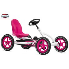 Buddy Pedal Go Kart in White