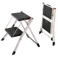 Mini 2 Step Stool in Chrome
