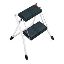 <strong>Polder</strong> Mini 2 Step Stool in White and Black