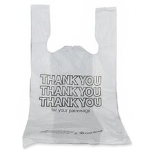 "Thank You Bags, 12-Mic, 11-1/2""x6-1/2""x21"", 1000 Count, White"