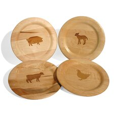 Farmhouse Animal Design Plate (Set of 8)