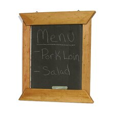 Hanging Slate Menu Board in Teak Oil