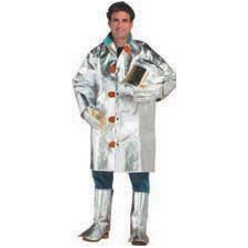 "Large Aluminized Carbon Kevlar® 45"" Coat With Snap Front And Velcro® Wrists"