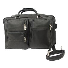 "Traveler 20.5"" Leather Soft 2-Wheeled Carry-On Duffel"