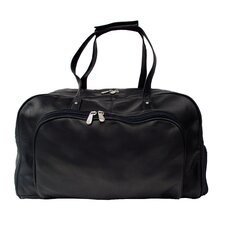 "<strong>Piel Leather</strong> Traveler Deluxe 17"" Leather Carry-On Duffel Bag"