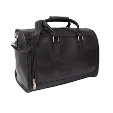 "18"" Leather Front-Zip Overnighter Carry-On Duffel"