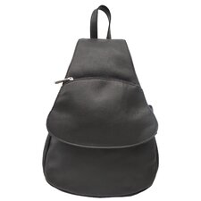 <strong>Piel Leather</strong> Fashion Avenue Flap-Over Sling Backpack