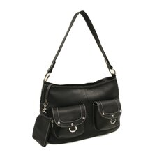 Women's Double Ring Pocket Shoulder Bag
