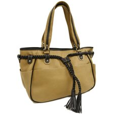 Women's Braided Belt Tote Bag