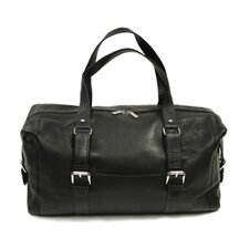 "Traveler 19"" Leather Travel Duffel with Buckles"