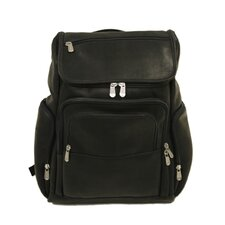 <strong>Piel Leather</strong> Entrepreneur Multi-Pocket Laptop Backpack