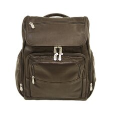 <strong>Piel Leather</strong> Entrepreneur Multi-Pocket Laptop Backpack in Chocolate
