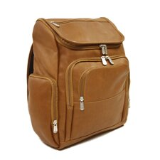 <strong>Piel Leather</strong> Entrepreneur Multi-Pocket Laptop Backpack in Saddle