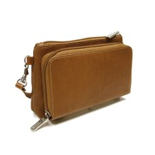 Fashion Avenue Shoulder Bag / Wristlet in Saddle