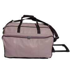"<strong>Piel Leather</strong> Pastel 21"" Leather 2-Wheeled Carry-On Duffel"