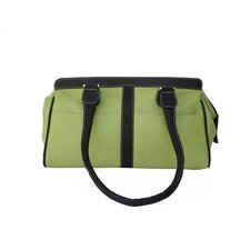 Apple Green Leather Double Handle Tote