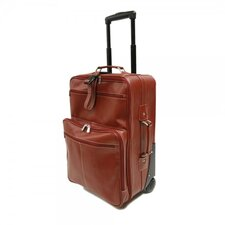 "<strong>Piel Leather</strong> Blushing Red Collection 22"" Wheeled Traveler Suitcase"