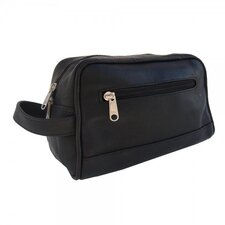 Leather Top-Zip Toiletry Kit