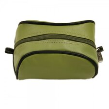 Leather Cosmetic Bag in Apple Green