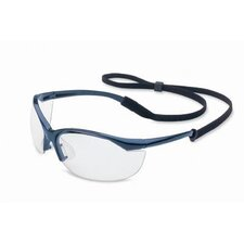 Vapor® Safety Glasses With Metallic Blue Frame And Clear Anti-Fog Lens