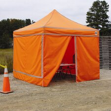 <strong>King Canopy</strong> 4 Pack Hi Vis Orange Walls w/ Reflective Tape (Frame Not Included)