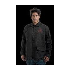 "30"" Black 9 Ounce Westex® Proban® FR7A® Cotton Flame Retardant Jacket With Snap Front Closure"