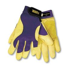 <strong>John Tillman & Co</strong> TrueFit™ Top Grain Deerskin With Rough Side Out Double Palm & Thumb, Blue Spandex Back Performance Gloves With Hook & Loop Closure