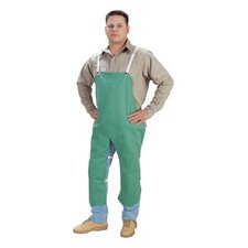"X 48"" Green 12 Ounce Westex® Proban® FR7A® Cotton Flame Retardant Apron With Waist Tie And Snap Leg Straps"