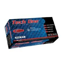 "White 9.6"" Tech One® 5.9 mil Premium quality rubber Latex Ambidextrous Non-Sterile Lightly Powdered Disposable Gloves With Textured Finish And Beaded Cuffs (100 Pair Per Box)"