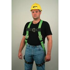 Harness With Back D-Ring Matting And Tongue Buckle Leg Straps