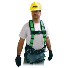Style Harness With Side D-Rings, Friction Shoulder Strap, Tongue Buckle Legs And Belt Loops