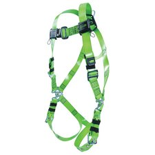 <strong>Miller Fall Protection</strong> Vinyl Plastic Coated Revolution™ Harness With Tongue Buckle Legs, Side D Ring And Removable Belt