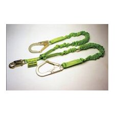 II 6' Stretchable Shock-Absorbing Lanyard With Two Legs With Locking Snap Hooks And Locking Rebar Hook