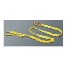 "Manyard® Shock-Absorbing Lanyard With 1 Locking Snap Hook With 3/4"" Throat Openings & 1 Choke-Off Loop"