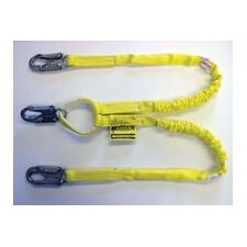 "Two-Legged Manyard® Shock-Absorbing Lanyard With 3 Locking Snap Hooks With 3/4"" Throat Openings"