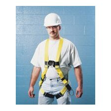 Size DuraLite Non-Stretch Harness With Tongue Buckle Leg Straps And Back, Front And Side D-Rings