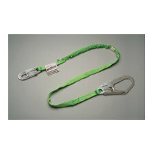 "Green Manyard HP® Shock-Absorbing Web Lanyard With Locking Snap Hook And 2 1/2"" Locking Rebar Hook"