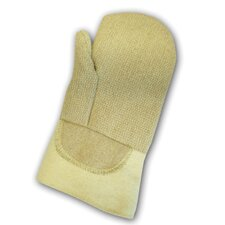 "Norbest 845™ 45 Ounce PBI® And Para-aramid synthetic fiber® Wool Lined Heat Resistant Mitten With 14"" 22 Ounce Thermobest™ Gauntlet Cuff And 22 Ounce PBI Cuff Patch"