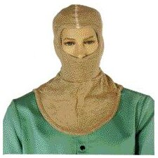 Size Fits All Brown 6 Ounce PBI/Raylon Flame Resistant Hood With A Single Layered Knit Bib