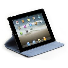 360 Degree Rotating Stand/Case for iPad Second Generation in Black/Blue